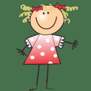 Zeichnung einer stehenden Mädchenfigur für die KITA Karamba in Braunschweig
