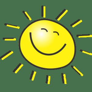 Zeichnung einer lächelnden Sonne für die KITA Karamba in Braunschweig